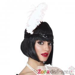 Pluma de avestruz blanca para mujer - Imagen 1
