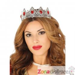 Corona de princesa plateada para mujer - Imagen 1