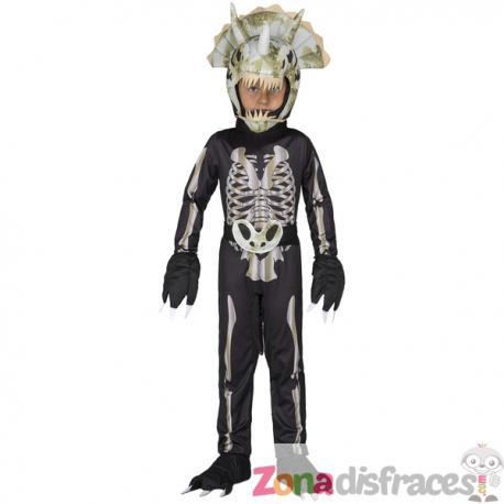 Disfraz de esqueleto de dinosaurio para niño - Imagen 1