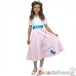 Disfraz de años 50 rosa para niña - Imagen 1
