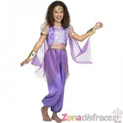 Disfraz de princesa árabe morado para niña - Imagen 1