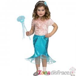 Tutú de cola de sirena para niña - Imagen 1