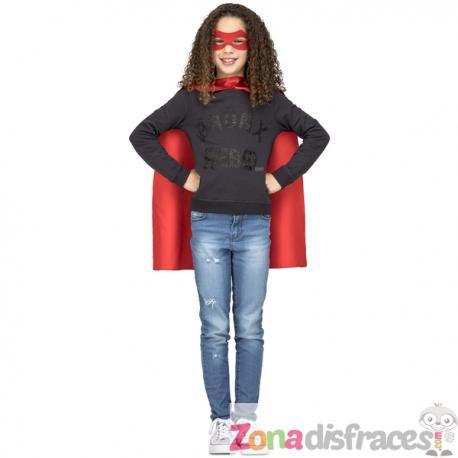 Capa de superhéroe roja infantil - Imagen 1