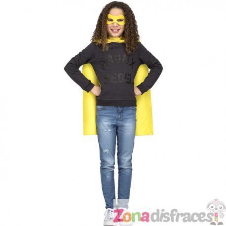 Capa de superhéroe amarilla infantil - Imagen 1