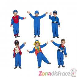 Disfraz de Quick n Fun azul infantil - Imagen 1