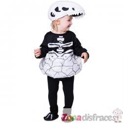 Disfraz de esqueleto de dinosaurio recién nacido para bebé - Imagen 1