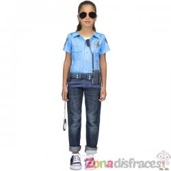 Camiseta de policía infantil - Imagen 1