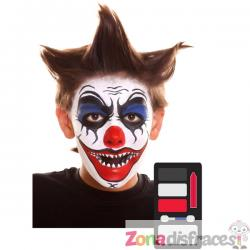 Maquillaje de payaso diabólico infantil - Imagen 1
