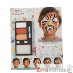 Maquillaje de tigre infantil - Imagen 1
