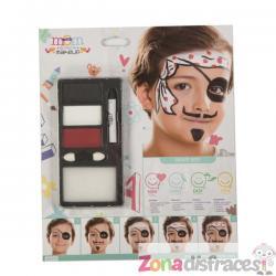 Maquillaje de pirata para niño - Imagen 1