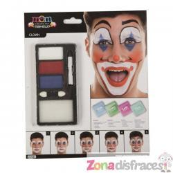 Maquillaje de payaso risueño para adulto - Imagen 1