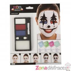 Maquillaje de arlequín para adulto - Imagen 1