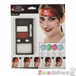 Maquillaje de pirata rojo para hombre - Imagen 1