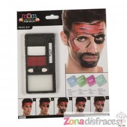 Maquillaje de pirata rojo para mujer - Imagen 1