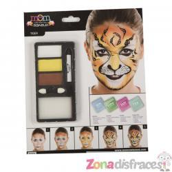Maquillaje de tigre para adulto - Imagen 1