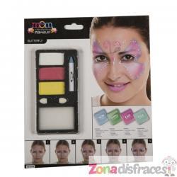 Maquillaje de mariposa fucsia para adulto - Imagen 1