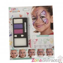 Maquillaje de mariposa fucsia infantil - Imagen 1