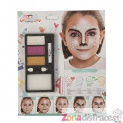 Maquillaje de navidad perlado infantil - Imagen 1