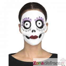 Máscara de día de los muertos Burton style para mujer - Imagen 1