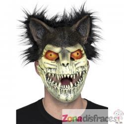 Máscara de gato zombie con pelo para adulto - Imagen 1