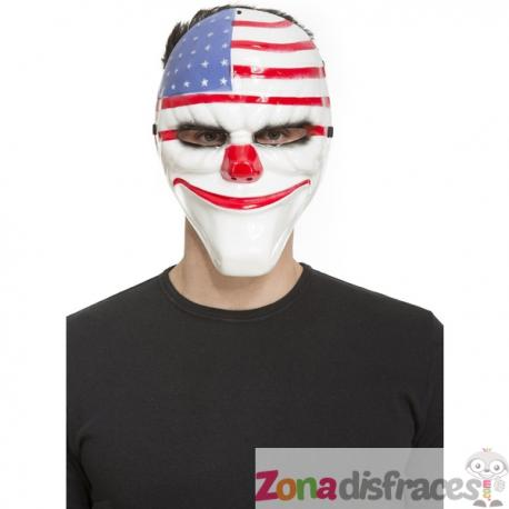 Máscara de payaso con bandera de Estados Unidos para adulto - Imagen 1