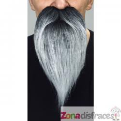 Bigote y barba larga gris - Imagen 1