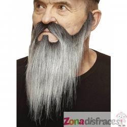 Bigote y barba larga desde la patilla gris - Imagen 1