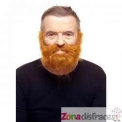 Bigote y barba super poblados pelirrojos - Imagen 1