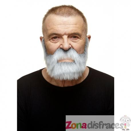 Bigote y barba super poblados blancos - Imagen 1