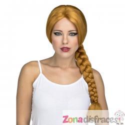 Peluca de trenza larga pelirroja para mujer - Imagen 1