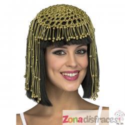 Peluca de reina egipcia negra para mujer - Imagen 1