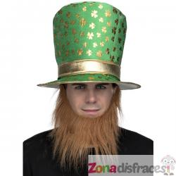 Gorro de leprechaun irlandés verde para adulto - Imagen 1