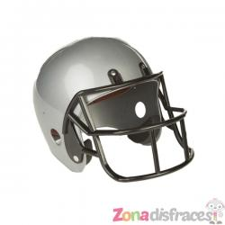 Casco de fútbol americano gris para adulto - Imagen 1
