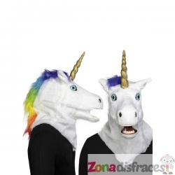 Máscara de unicornio moving mouth para adulto - Imagen 1