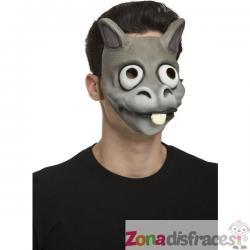 Máscara de burro gris para adulto - Imagen 1