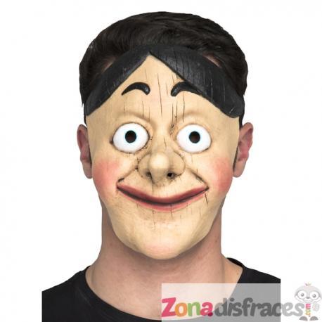 Máscara de muñeco de madera para adulto - Imagen 1