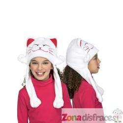 Gorro de gato blanco infantil - Imagen 1