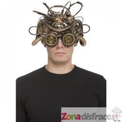 Casco medusa steampunk para adulto - Imagen 1
