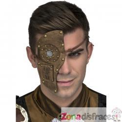 Máscara de media cara steampunk para adulto - Imagen 1