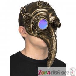 Máscara steampunk de peste dorada para adulto - Imagen 1