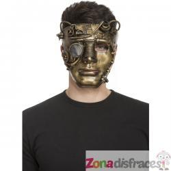 Máscara steampunk dorada para adulto - Imagen 1