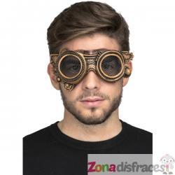 Gafas steampunk doradas para adulto - Imagen 1