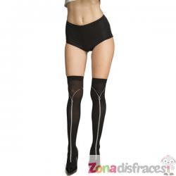Calcetines de cremalleras negros para mujer - Imagen 1