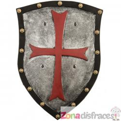 Escudo medieval con cruz - Imagen 1