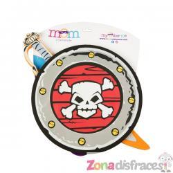 Set de espada y escudo de pirata infantil - Imagen 1