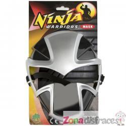 Máscara de ninja plateada - Imagen 1