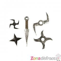 Set de armas para guerrero ninja - Imagen 1