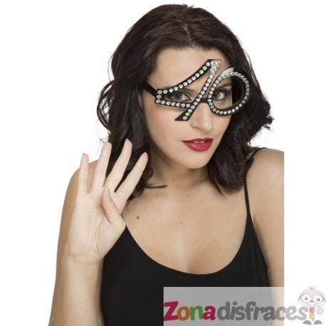 Gafas de cumpleaños 40 con brillantes para adulto - Imagen 1