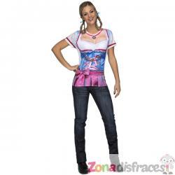 Camiseta de tirolesa sexy para mujer - Imagen 1