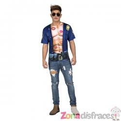 Camiseta de policía sexy para hombre - Imagen 1